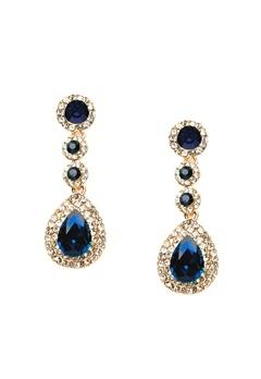 WOS Queen Bling Earrings Blå Bubbleroom.eu