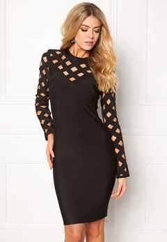 WOW COUTURE Caged Sweatheart Dress Black Bubbleroom.eu