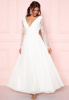 Y.A.S Adela LS Maxi Dress Star White Bubbleroom.eu