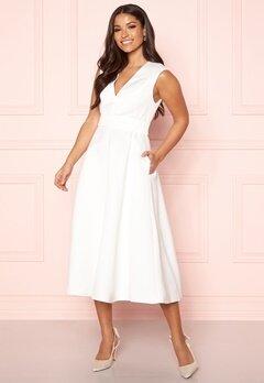 Y.A.S Alice SL Midi Dress Star White Bubbleroom.eu