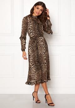 Y.A.S Amaze LS Dress Black w. Leo AOP Bubbleroom.eu