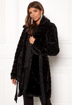 Y.A.S Asala Faux Fur Coat Black Bubbleroom.eu