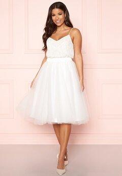 Y.A.S Ballet Midi Skirt Star White Bubbleroom.eu