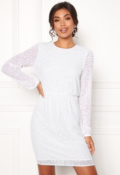 Y.A.S Beada LS Dress Star White Bubbleroom.eu