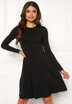 Y.A.S Blax LS Flared Dress Black Bubbleroom.eu