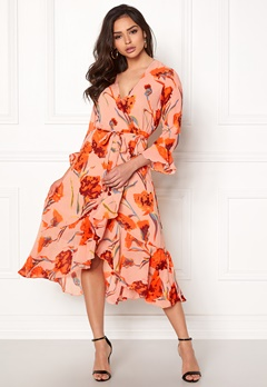 Y.A.S Cacco Wrap Dress Rose Smoke Bubbleroom.eu