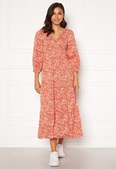 Y.A.S Damask 3/4 Long Dress Wisper Pink, AOP Bubbleroom.eu