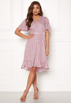 Y.A.S Dawny S/S Dress Dawn Pink W Gold Bubbleroom.eu