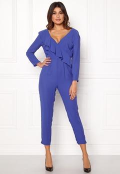 Y.A.S Estrella LS Jumpsuit Royal Blue Bubbleroom.eu