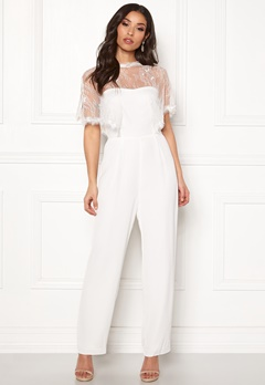 Y.A.S Flower Cape Jumpsuit Star White Bubbleroom.eu