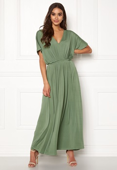 Y.A.S Freya SS Ancle Dress Hedge Green Bubbleroom.eu
