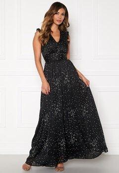 Y.A.S Greta Maxi Dress Black, AOP Bubbleroom.eu
