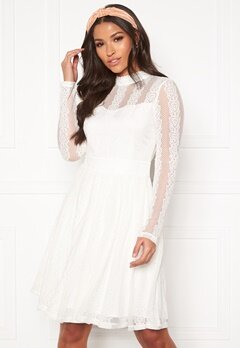 Y.A.S Helena LS Dress Star White Bubbleroom.eu