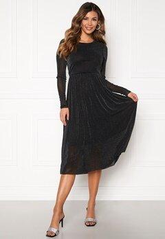 Y.A.S Jessa LS Lurex Midi Dress Black Bubbleroom.eu