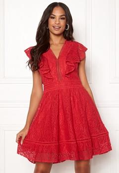 Y.A.S Malma Lace Dress High Risk Red Bubbleroom.eu