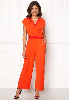 Y.A.S Mamba S/S Jumpsuit Orange.com Bubbleroom.eu