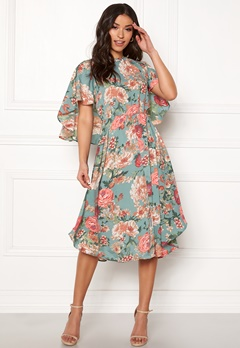 Y.A.S Merio S/S Dress Trellis Bubbleroom.eu