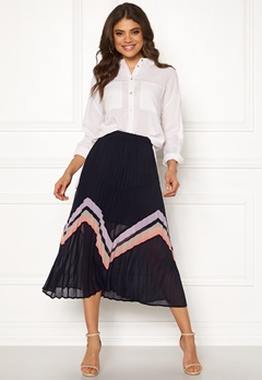 Y.A.S Milda Pleated Skirt Night Sky Bubbleroom.eu