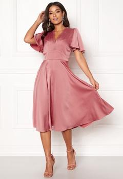 Y.A.S Valley S/S Dress Rose Smoke Bubbleroom.eu