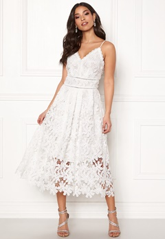 Y.A.S Viola S/L Dress Star White Bubbleroom.eu