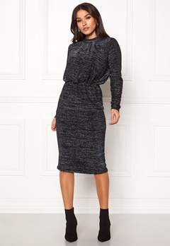 Y.A.S Yenna Lurex L/S Dress Black Bubbleroom.eu