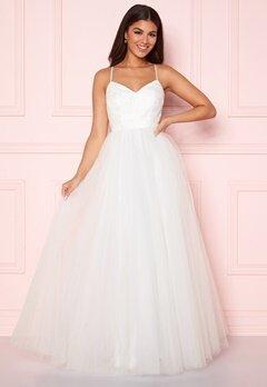 Y.A.S Zetia Strap Maxi Dress Star White Bubbleroom.eu