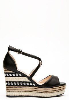 Francesco Milano Zeppa Ecopelle Shoes Nero Bubbleroom.eu