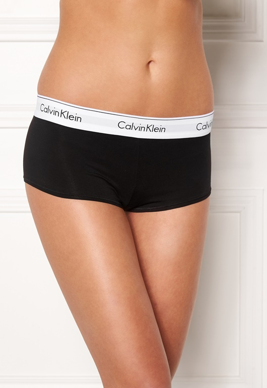 b89ee16a5e Calvin Klein CK Cotton Boyshort 001 Black - Bubbleroom