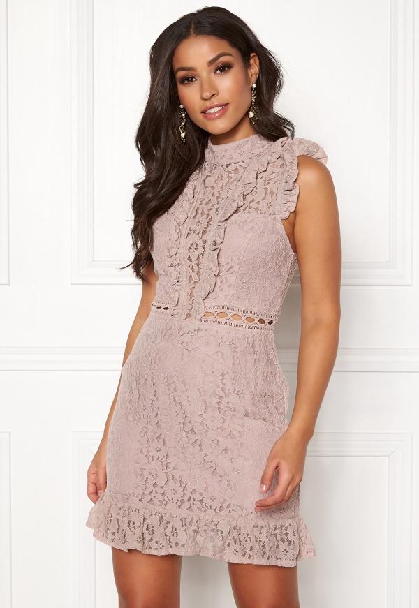 Ax paris lace frill top bodycon dress