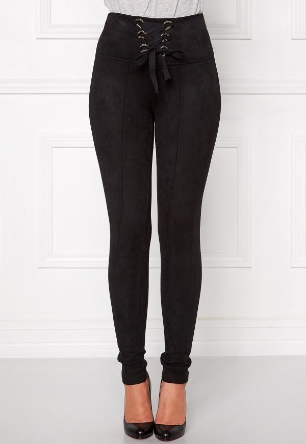 petite-black-suede-pants