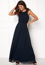 Lace Trim Chiffon Dress