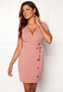 Alessia buttoned wrap dress