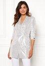 Celebrity sequin blazer dress