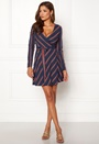 Lavinia woven wrap dress