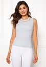 Lila pearl neck top