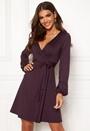 Sonnet puff sleeve wrap dress