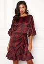Animal Sateen Wrap Dress