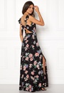 Tie Back Frill Maxi Dress