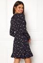 Wrap Frill Mini Dress