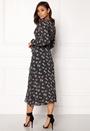 Print Lattice Maxi Dress