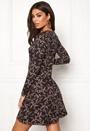 Print L/S Flower Dress