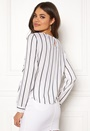 Striped Knot Blouse
