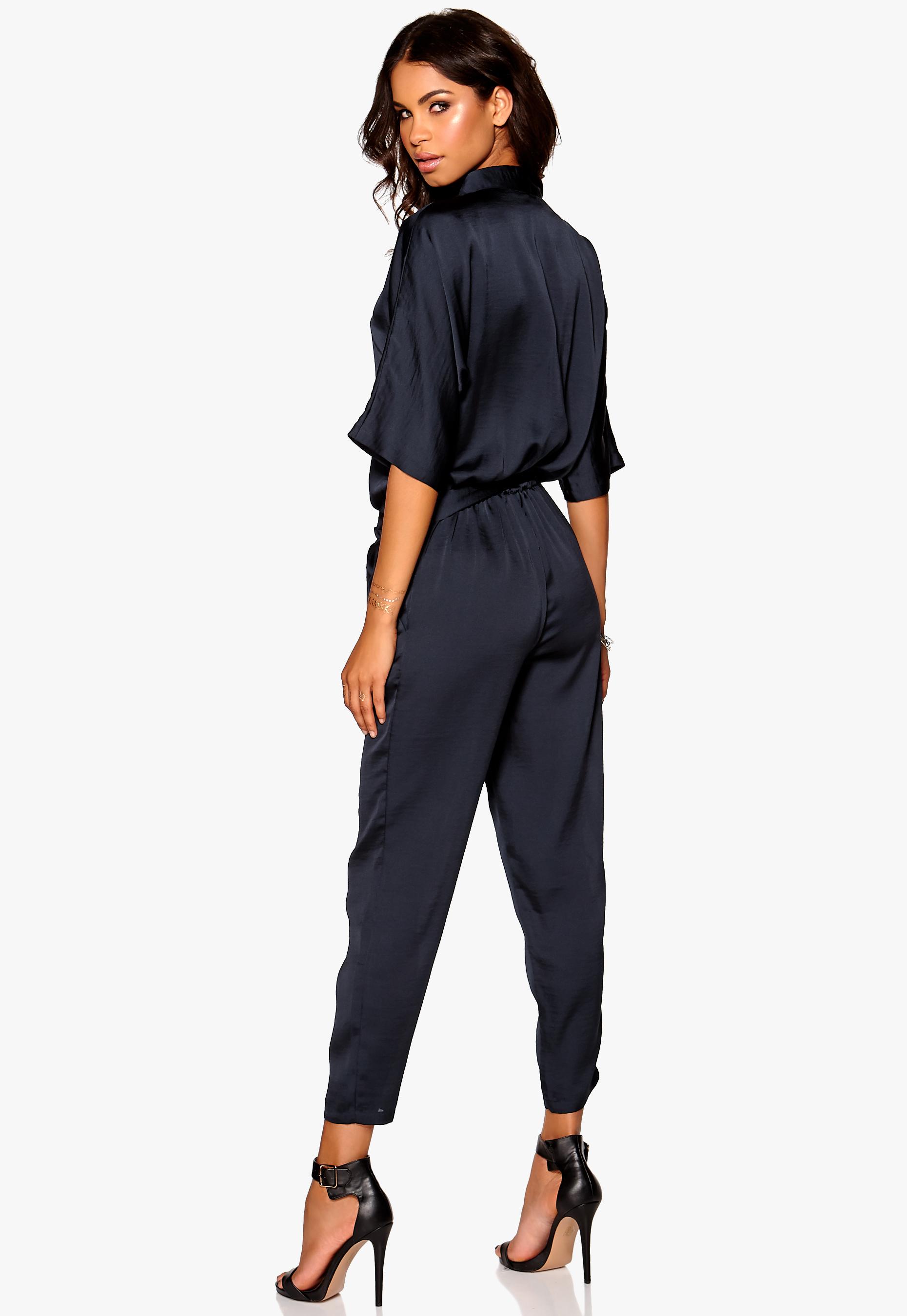 f0337119 Make Way Valerie Kimono Jumpsuit Dark Blue - Bubbleroom