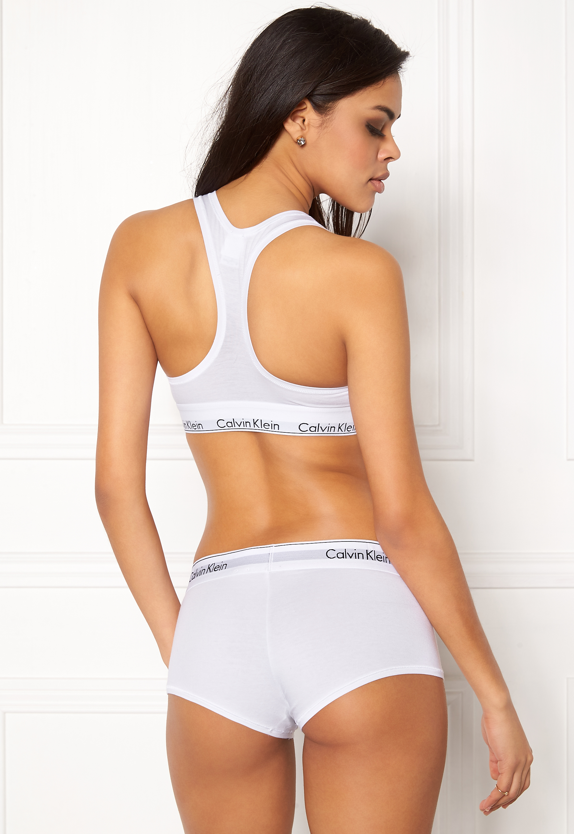 d3c640a846 Calvin Klein CK Cotton Boyshort 100 White - Bubbleroom