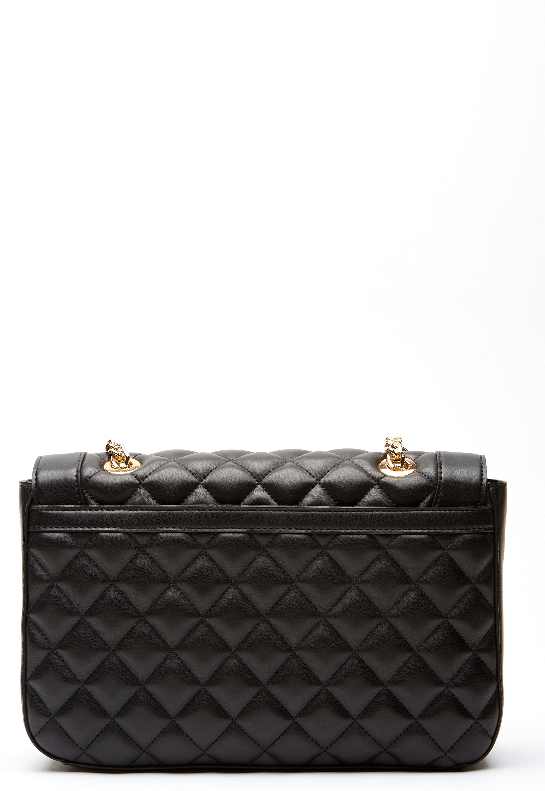 20bc48efdec2 Love Moschino Quilted Big Chain Bag Black Gold - Bubbleroom