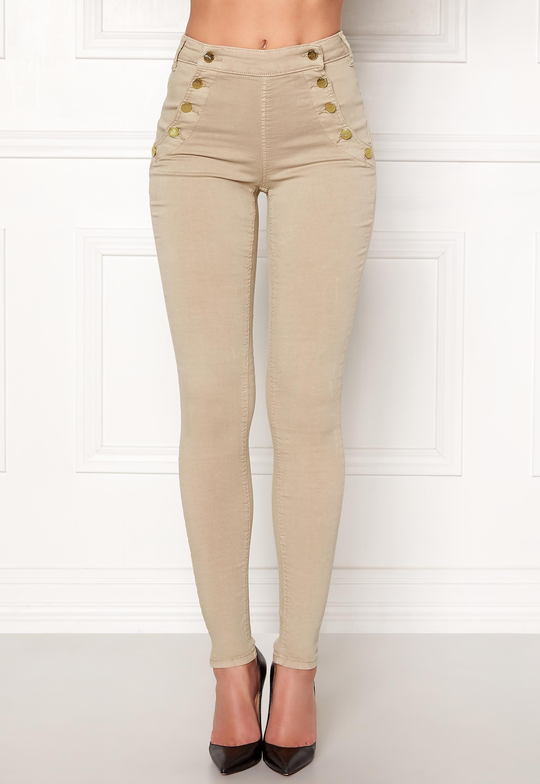77thFLEA Adina highwaist jeans Putty - Bubbleroom 6a6277482c283