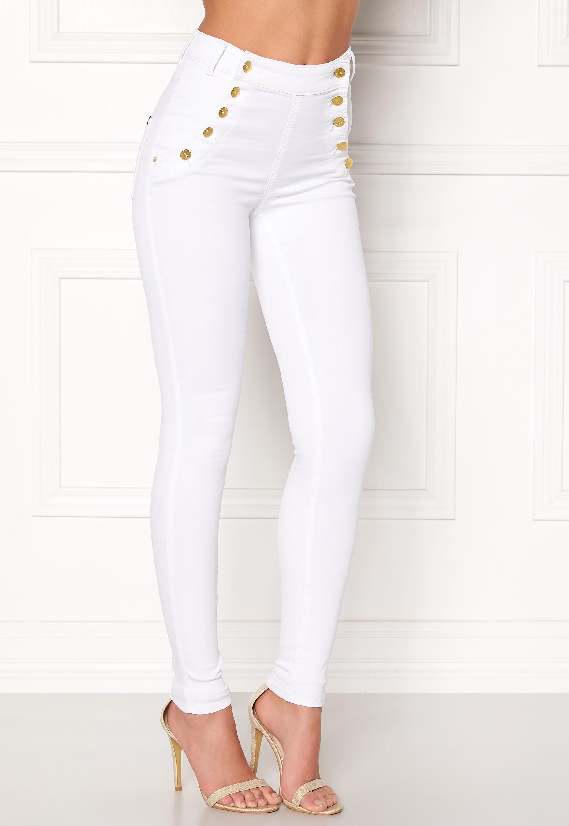 77thFLEA Adina highwaist jeans White - Bubbleroom e19ce99d61b53
