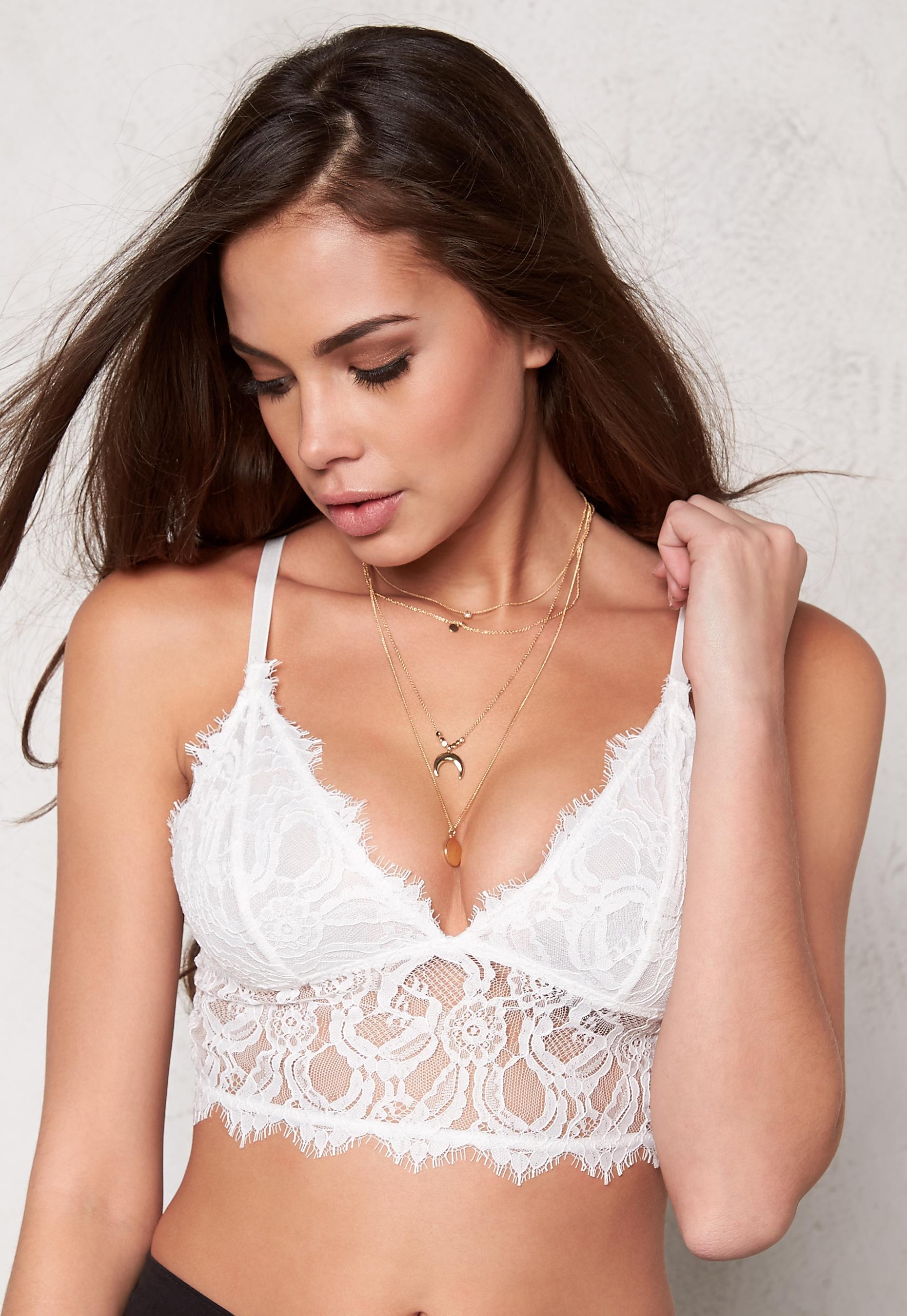 f9479a95b2 77thFLEA Melody lace bustier White - Bubbleroom