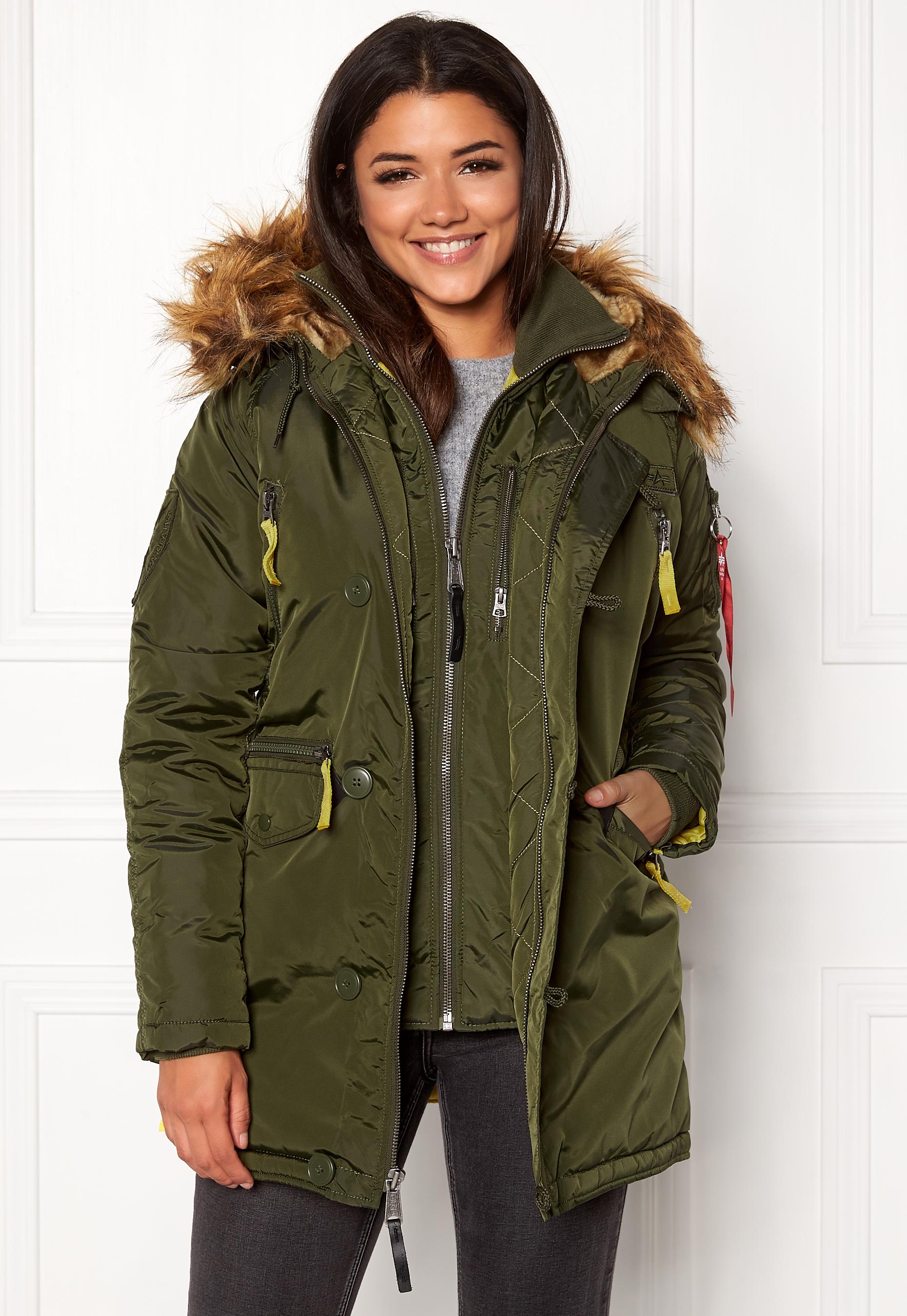 new product 95851 7bbbd Alpha Industries PPS N3B Jacket Dark Green - Bubbleroom