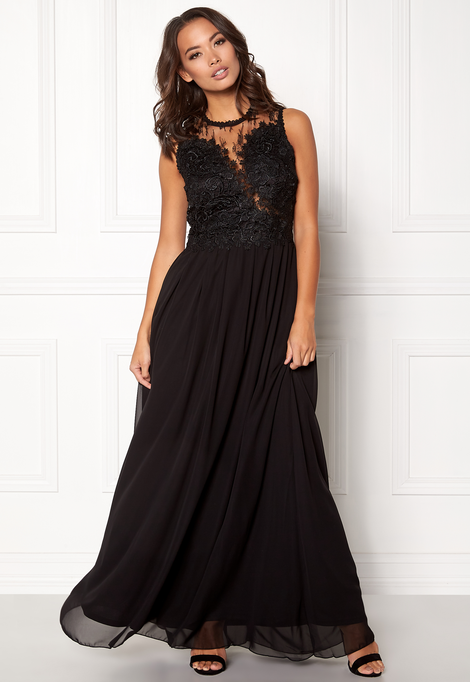 27d6ffc0093 Ax Paris Black Crochet Top Maxi Dress - Data Dynamic AG